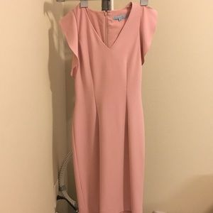 Pink pencil style dress